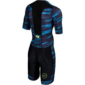 Zone3 Activate+ Trisuit korte mouwen Heren, stealth speed-black/grey/teal